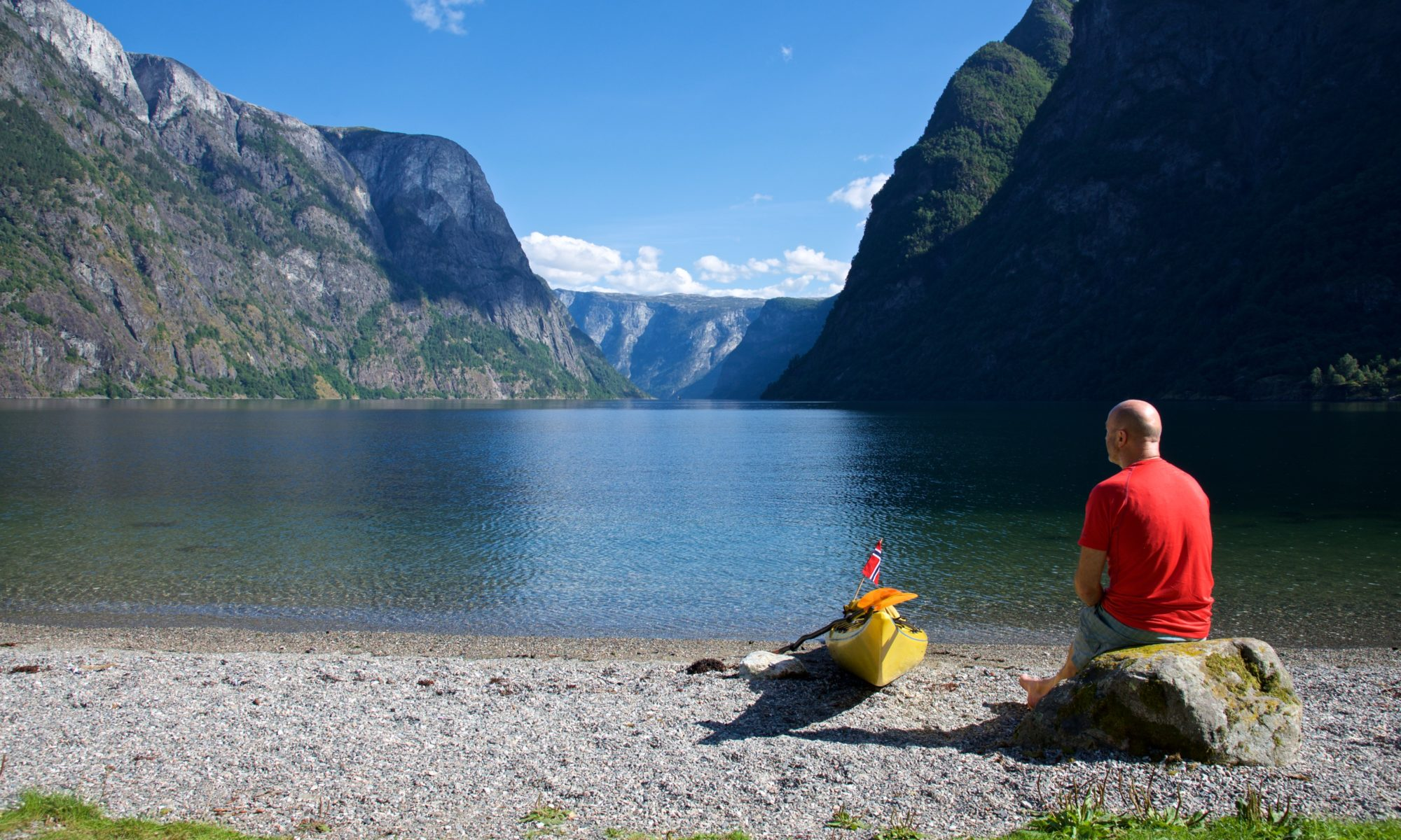 Salthelle Beach in the Nærøyfjord
