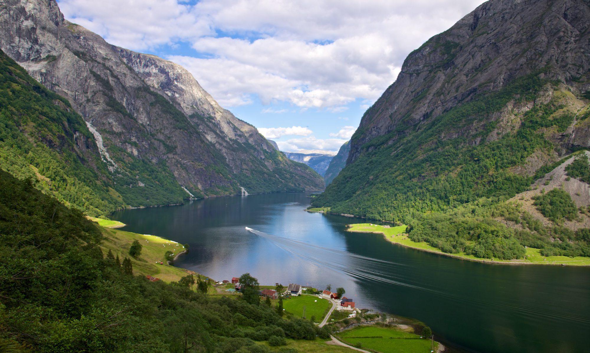 The Nærøyfjord in Sogn