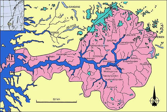 What Is A Fjord NORWEGIAN FJORDS Western Norway - Norway encarta map