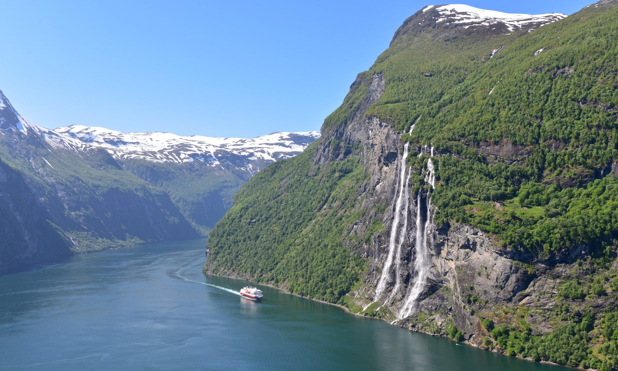 The Geirangerfjord and the Seven Sisters Waterfall