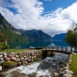 Liasanden Cabins by Lake Oppstrynsvatnet in Stryn, Nordfjord. Norway.