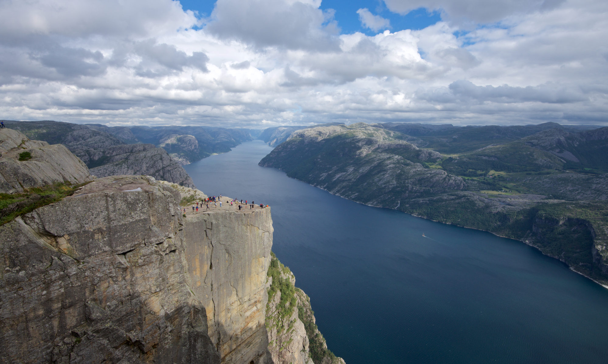 Preikestolen and the Lysefjord in Ryfylke, Norway