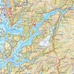 Map - The Hardangerfjord Area and adjacent areas