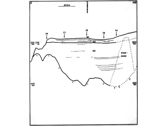 Geologic interpretation of the seismic profile above from the outer Granvinfjorden.