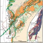 Geological Map showing the Hardangerfjord Shear Zone
