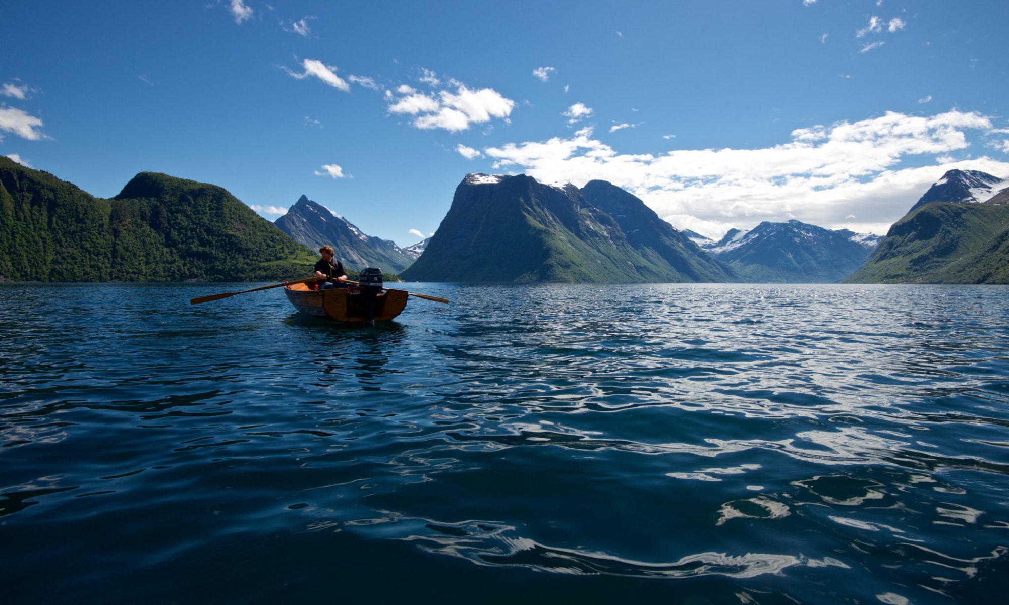 The Hjørundfjord at Sunnmøre, Norway