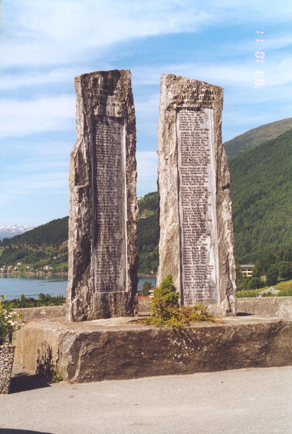 The memorial in Loen.