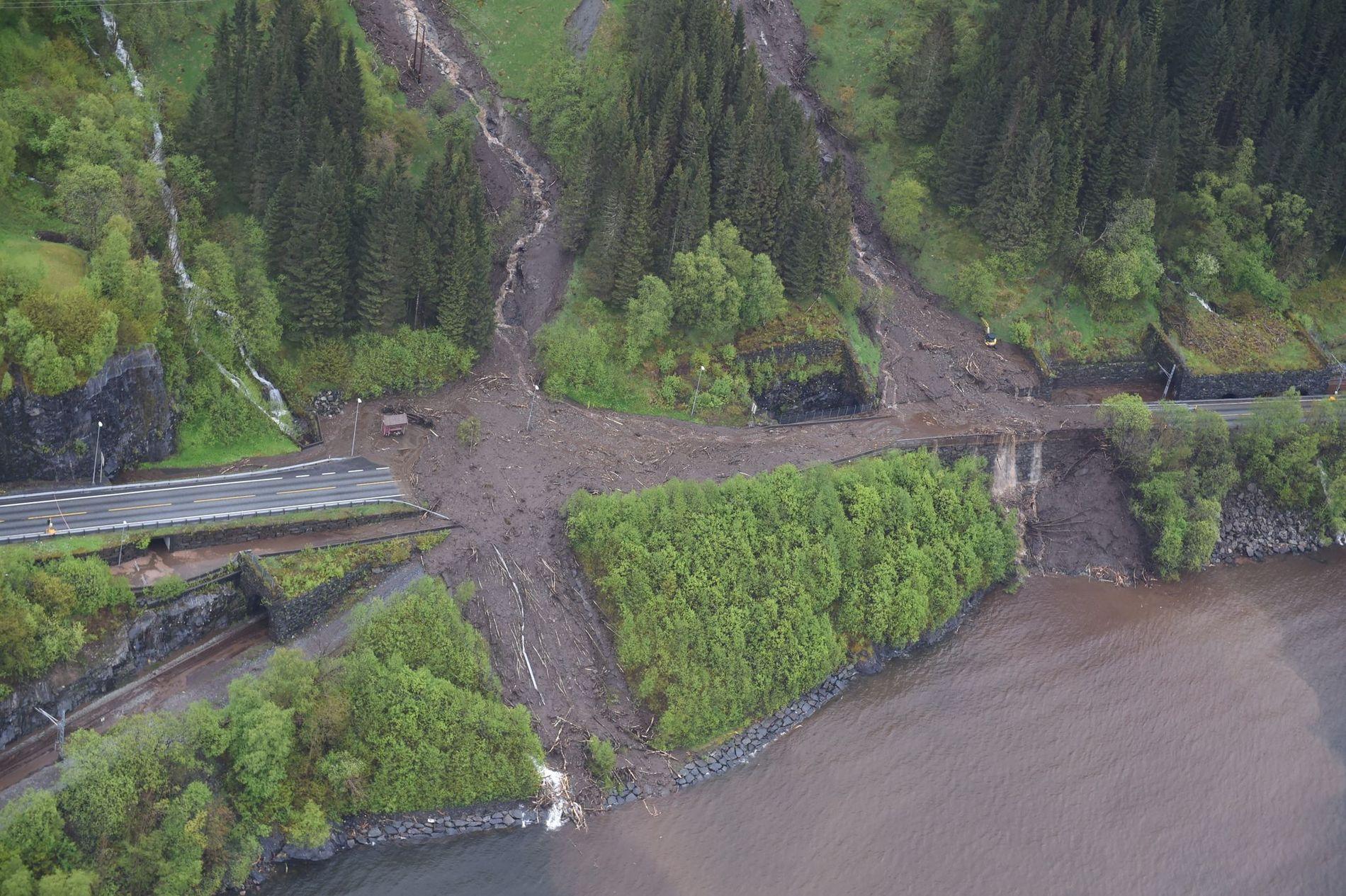 The Boge landslide by Vaksdal.