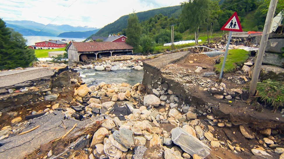 Some of the results of the flow in Utvik in Nordfjord, Sogn and Fjordane County.