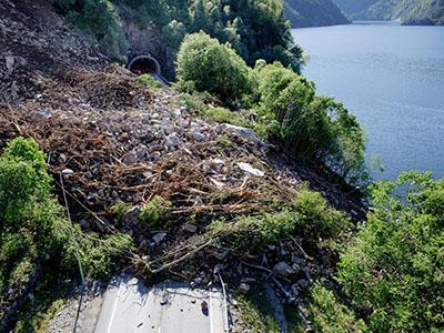 Landslide by Bolstadfjorden