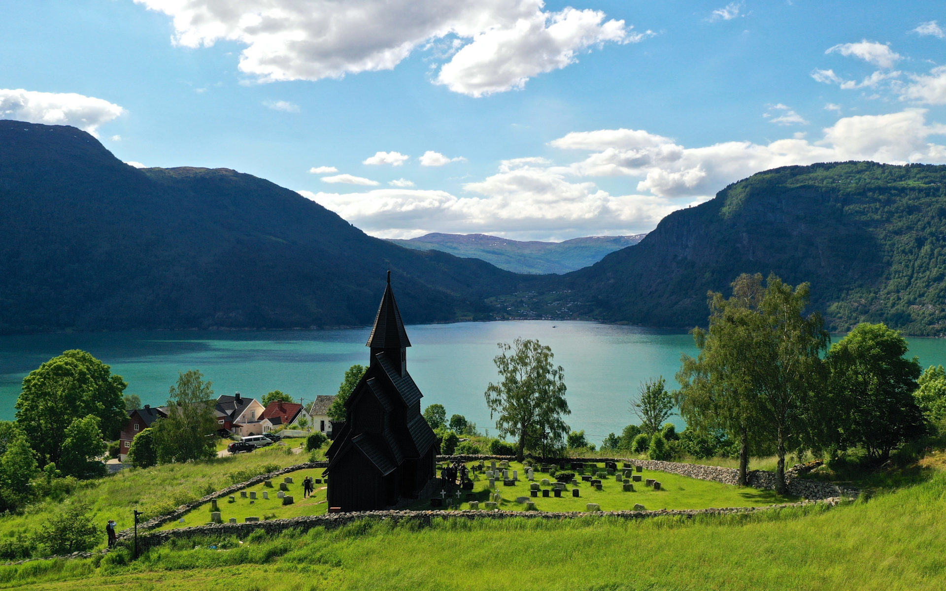 The UNESCO Protected Urnes Stave Church in Luster, Norway