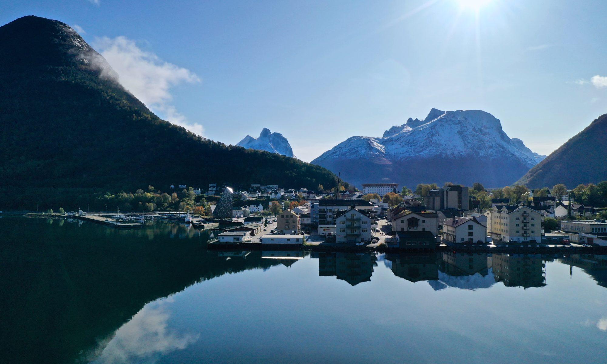 Åndalsnes in Romsdal, Norway