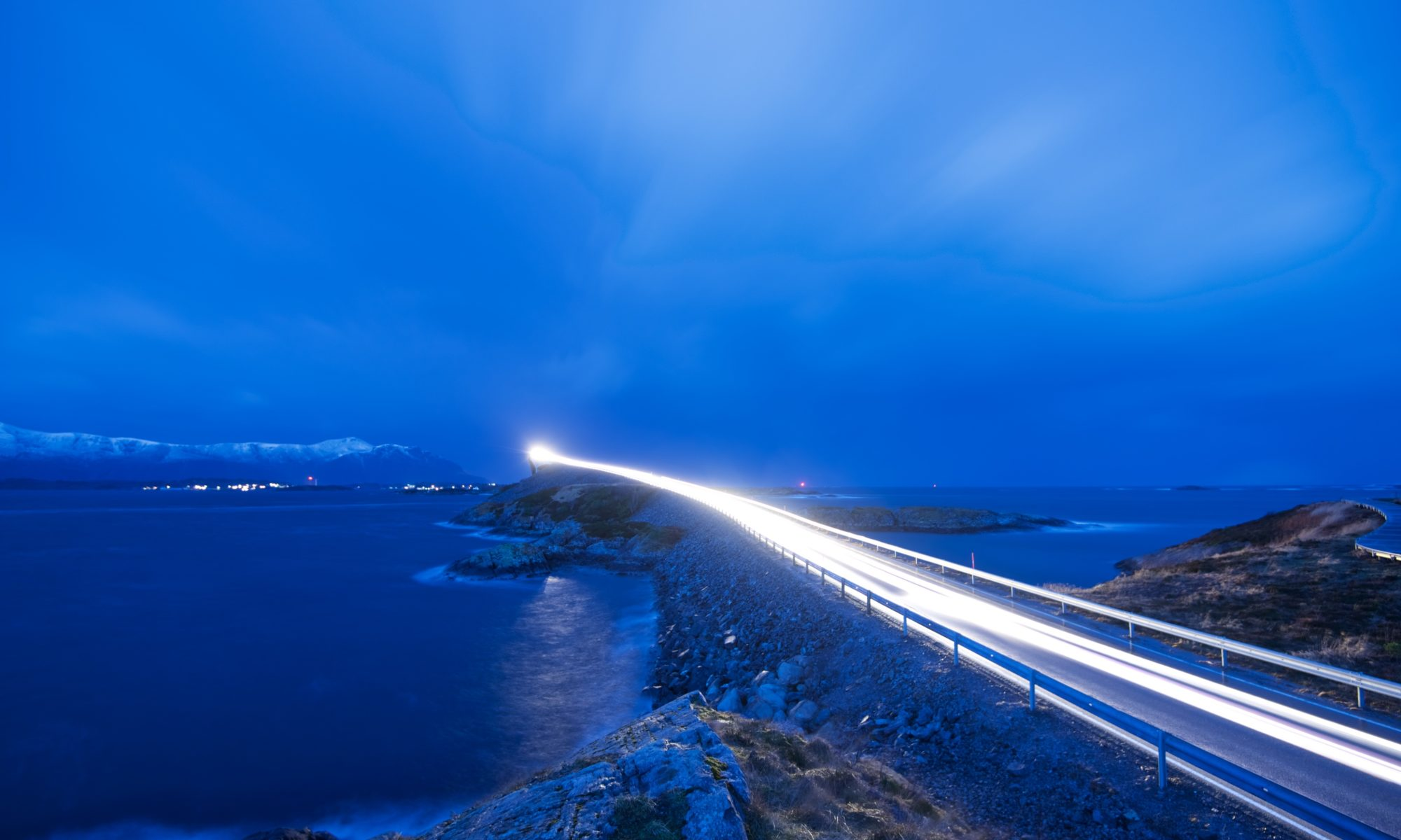 The Atlantic Road at Averøy, Norway.