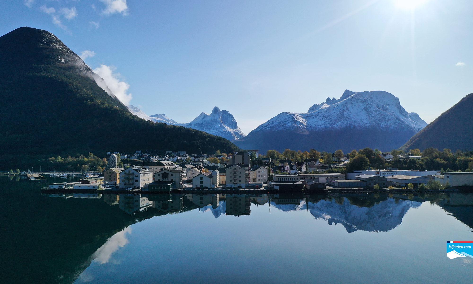 Åndalsnes in Romsdal, Norway.