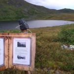 Information about the German Bomber Plane type Junkers 88 that crashed by Lake Brevikvatnet during WWII. Photo: Bernt Runde