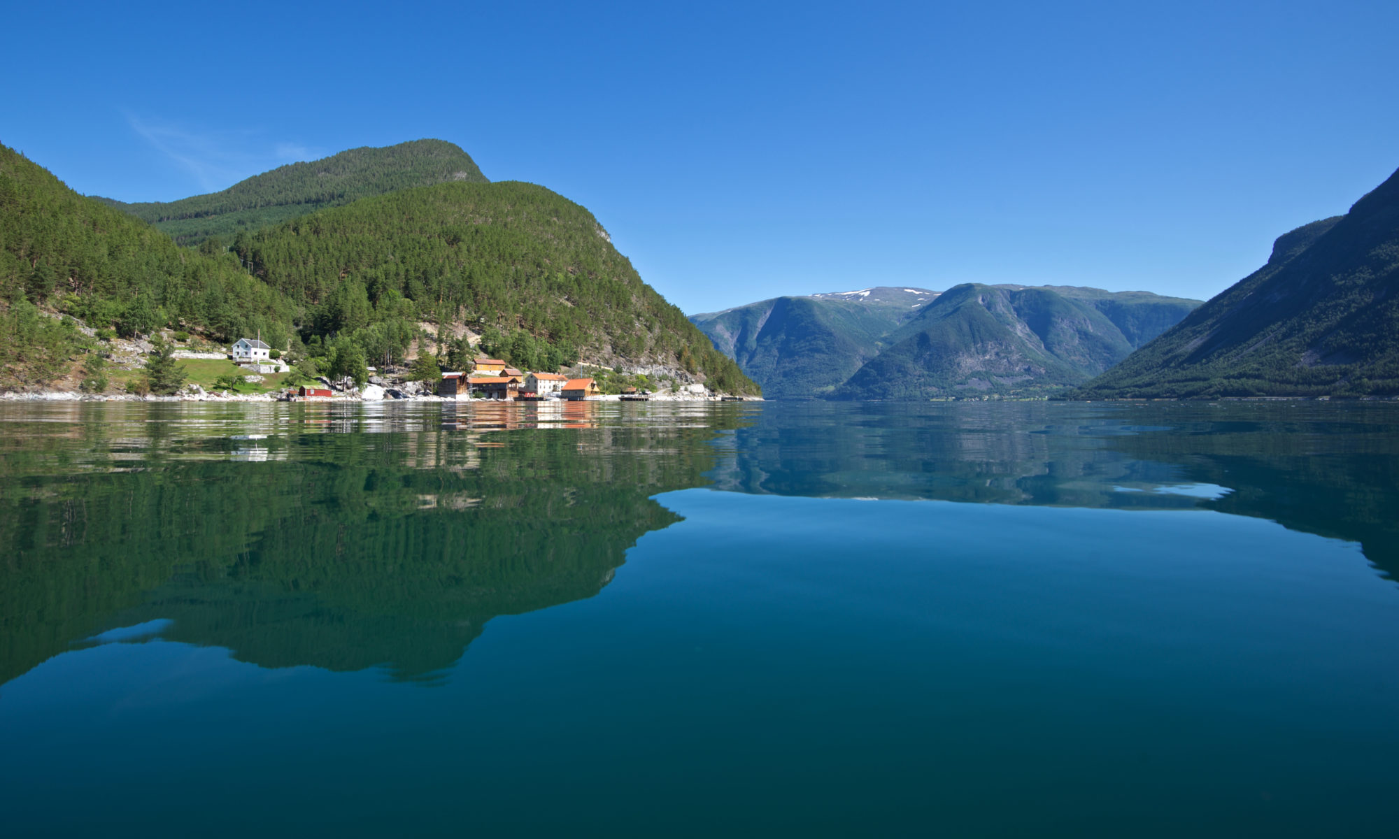 FJORDS NORWAY - Indre Ofredal by the Årdalsfjord, part of the Sognefjord in Norway