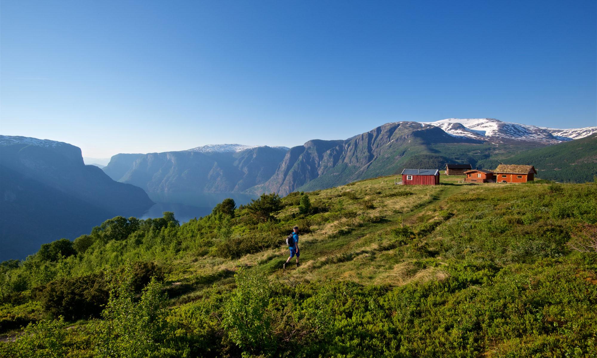 FJORDS NORGE - Tur til Hovdungo mellom Aurland og Flåm