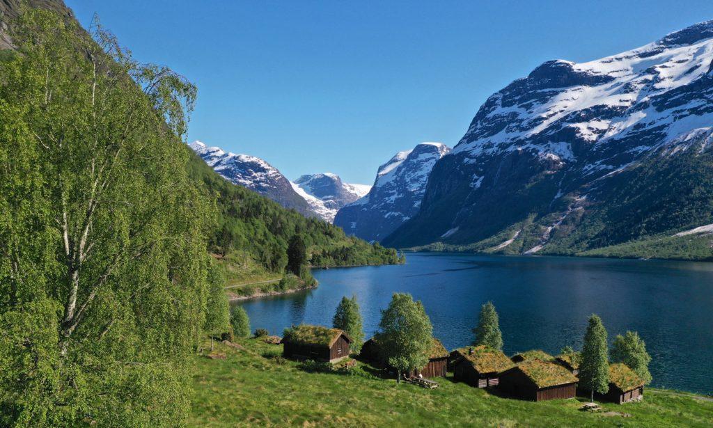 FJORDS NORWAY - Breng Seter by Lake Lovatnet in Loen, Nordfjord