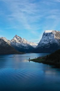 FJORDS NORWAY - The Hjørundfjord and Mt Slogen.