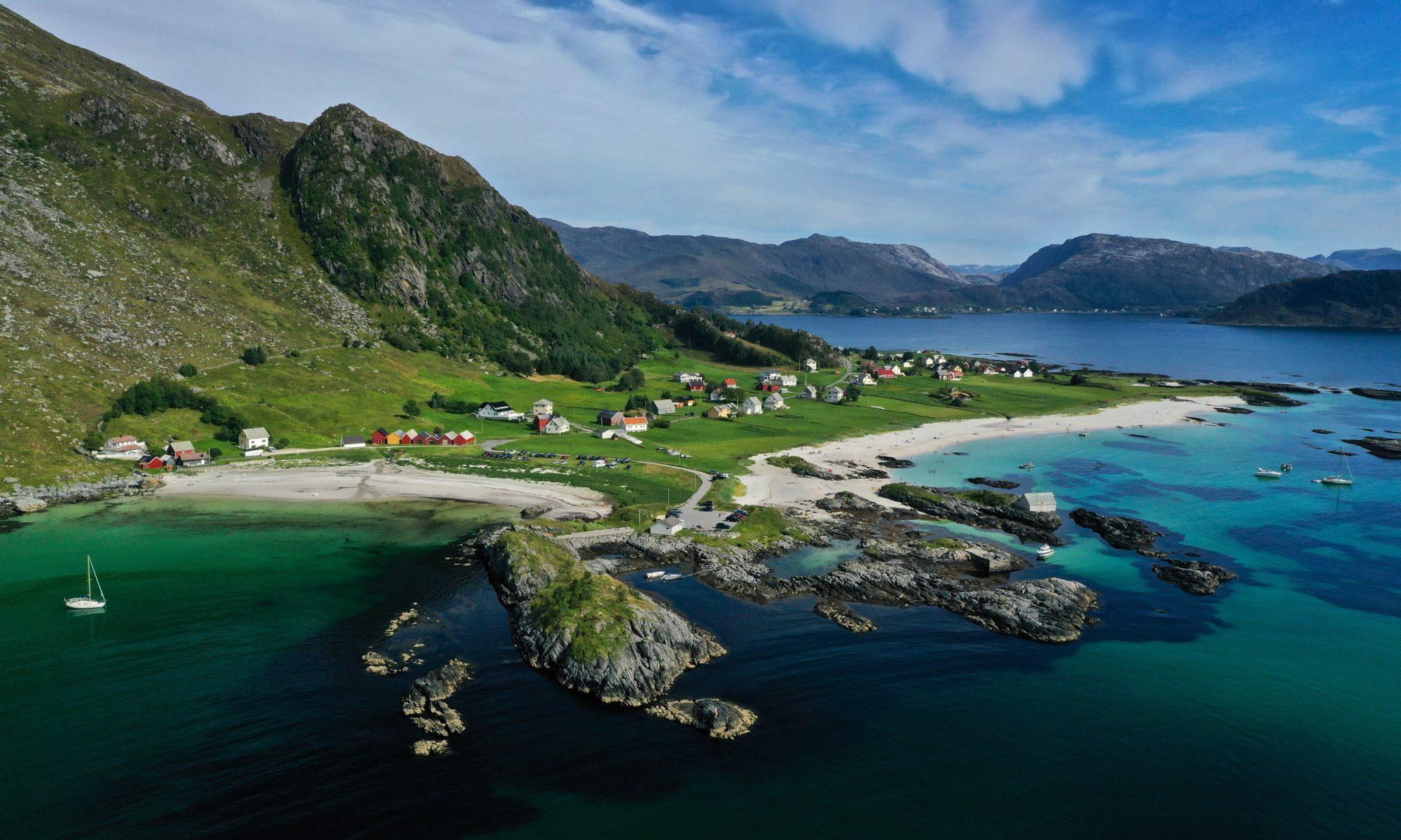 FJORDS NORWAY - Grotlesanden Beach at Bremangerlandet in Nordfjord, Norway