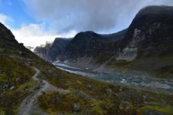 Viewpoint Austerdalsbreen Glacier.