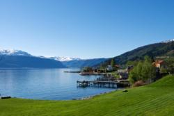 From Balestrand towards the outer part of the Sognefjord