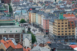 Bergen, the Gateway to the Fjords. City Center.