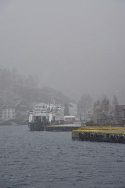 Winter at Flåm Harbour
