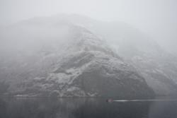 Winter - Fjordcruise on the Aurlandsfjord and Næryfjord in Sogn