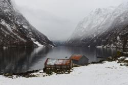 Winter - Kayaking on the Nærøyfjord in Sogn