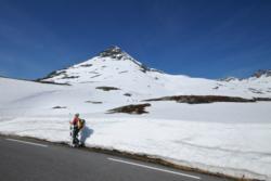 Summer Skiing at Trollstigen, to Mt. Alnestinden. Romsdal, Norway.