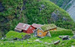 Sinjarheim Mountain farm in the Aurlandsdalen Valley.