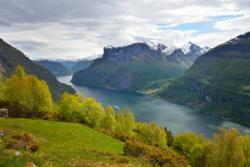 View from Nedbergo Mountain Farm above the Aurlandsfjord.