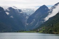 Oldedalen Valley and Brenndalsbreen Glacier.