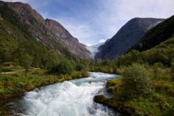 Briksdalen Valley and Briksdalsbreen Glacier