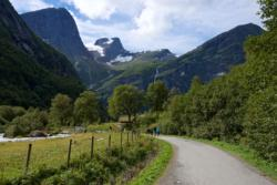 Hiking to Briksdalsbreen Glacier
