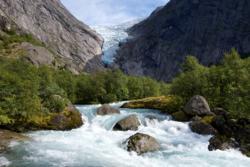 Briksdalsbreen Glacier.
