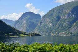View from Aurland towards the innermost part of the Aurlandsfjord.