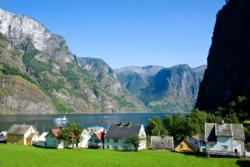 Undredal by the Aurlandsfjord.
