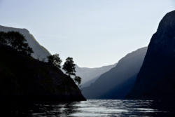 Leaving the Aurlandsfjord and kayaking into the Nærøyfjord
