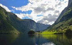 The small village Bakka by the UNESCO Protected Nærøyfjord.