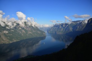 View from Stegastein Lookout towards the Aurandsfjord.