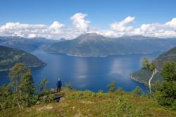 HM Queen Sonja´s Panoramic Hiking Trail above Kinsarvik
