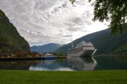 Flåm, innerst i Aurlandsfjorden