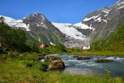 Bøyabreen Glacier in Fjærland in Sogn