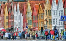 The UNESCO-protected Bryggen in Bergen.