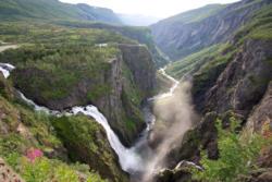 Vøringsfossen Waterfall in Eidfjord.