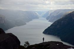 The County of Rogaland.The Lysefjord in Ryfylke.