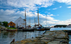 The County of Rogaland.Tananger Harbour.