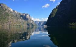 The UNESCO Protected Nærøyfjord in Sogn.